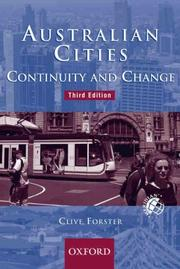 Cover of: Australian cities | C. A. Forster