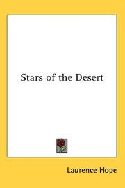Cover of: Stars of the Desert | Laurence Hope