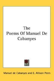 Cover of: The poems of Manuel de Cabanyes