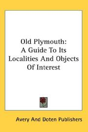 Cover of: Old Plymouth