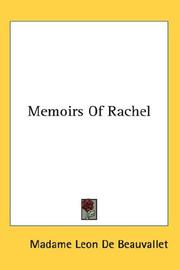 Cover of: Memoirs Of Rachel | Madame LГ©on de Beauvallet