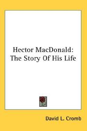 Cover of: Hector Macdonald
