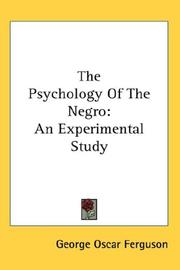 Cover of: The psychology of the Negro
