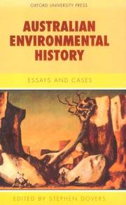 Cover of: Australian environmental history |
