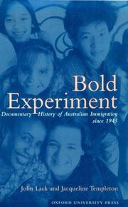 Cover of: Bold experiment |