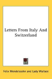 Cover of: Letters From Italy And Switzerland