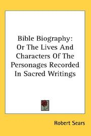 Cover of: Bible Biography | Robert Sears