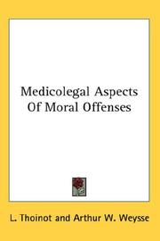 Cover of: Medicolegal Aspects of Moral Offenses