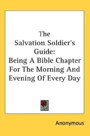 Cover of: The Salvation Soldier