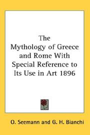 Cover of: The Mythology of Greece and Rome With Special Reference to Its Use in Art 1896
