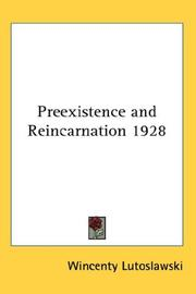 Cover of: Preexistence and Reincarnation 1928