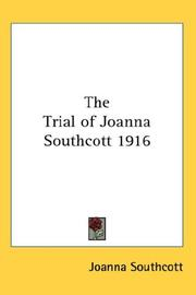 Cover of: The Trial of Joanna Southcott 1916
