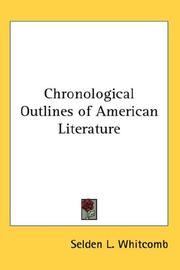 Cover of: Chronological Outlines of American Literature