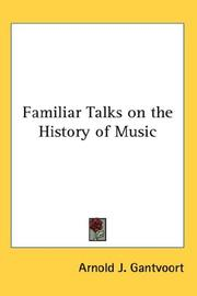 Cover of: Familiar Talks on the History of Music