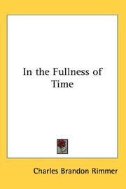 Cover of: In the Fullness of Time