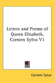 Cover of: Letters and Poems of Queen Elisabeth, Carmen Sylva V1