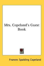 Cover of: Mrs. Copeland