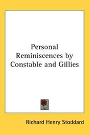 Cover of: Personal Reminiscences by Constable and Gillies