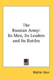 Cover of: The Russian Army | Walter Kerr