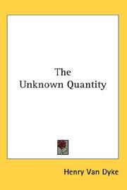 Cover of: The Unknown Quantity