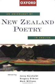 Cover of: An anthology of New Zealand poetry in English