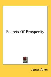 Cover of: Secrets of Prosperity
