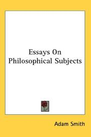 Cover of: Essays On Philosophical Subjects