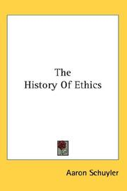 Cover of: The History Of Ethics