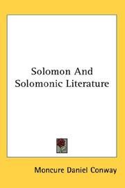 Cover of: Solomon and Solomonic literature