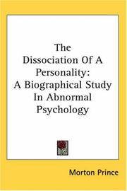Cover of: The dissociation of a personality
