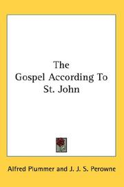 Cover of: The Gospel According To St. John |