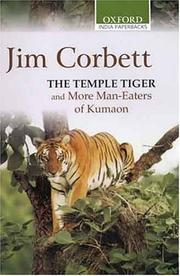 Cover of: The Temple Tiger and More Man-Eaters of Kumaon