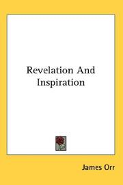 Cover of: Revelation and inspiration