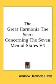 Cover of: The Great Harmonia The Seer