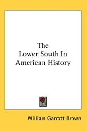 Cover of: Lower South in American History