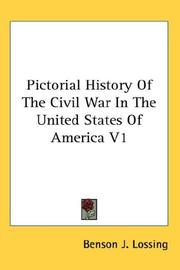 Cover of: Pictorial History Of The Civil War In The United States Of America V1