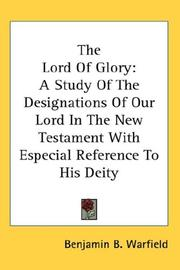 Cover of: The Lord of Glory
