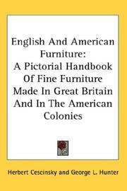Cover of: English And American Furniture | Herbert Cescinsky