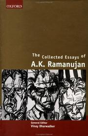Cover of: The collected essays of A.K. Ramanujan