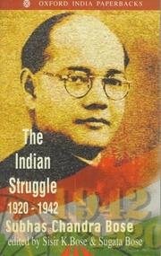 Cover of: The Indian struggle, 1920-1942