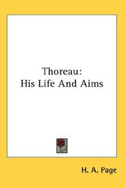 Cover of: Thoreau | H. A. Page