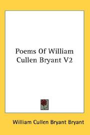Cover of: Poems Of William Cullen Bryant V2