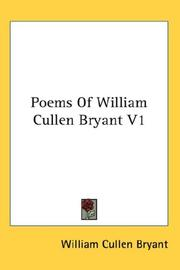 Cover of: Poems Of William Cullen Bryant V1