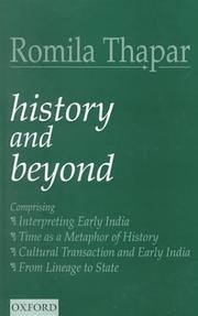 Cover of: History and beyond