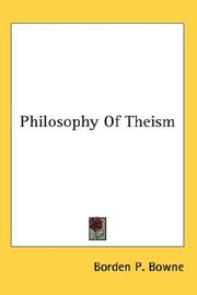 Cover of: Philosophy Of Theism