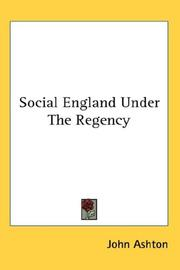 Cover of: Social England Under The Regency