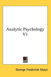 Cover of: Analytic Psychology V1 | George Frederick Stout