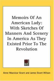 Cover of: Memoirs Of An American Lady | Anne Macvicar Grant