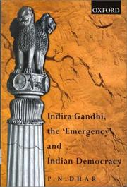 "Cover of: Indira Gandhi, the ""emergency"", and Indian democracy"