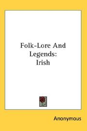 Cover of: Folk-Lore And Legends